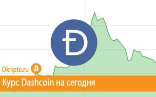 Курс Dashcoin к рублю, доллару, евро и биткоину