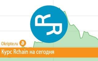 Курс Rchain к рублю, доллару, евро и биткоину