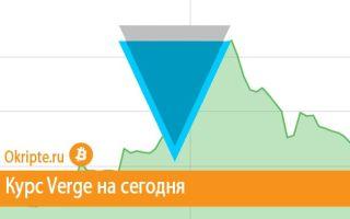 Курс Verge к рублю, доллару, евро и биткоину
