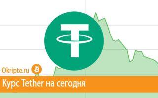 Курс Tether к рублю, доллару, евро и биткоину