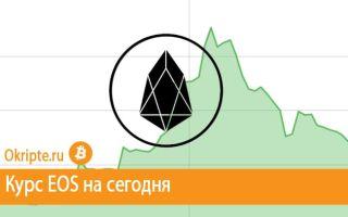 Курс EOS к рублю, доллару, евро и биткоину